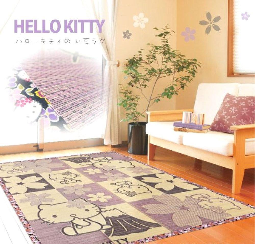 Hello Kitty Cherry blossom Rush grass Lag Tatami Carpet Mat Japan NEW SANRIO