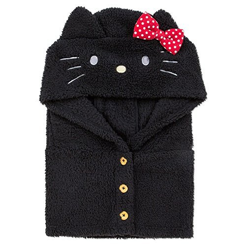 Sanrio Japan Hello Kitty Ladies hat with neck warmer Black