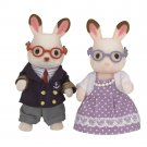 New Sylvanian Families/Calico Critters Chocolate Rabbit Family Grandpa grandma