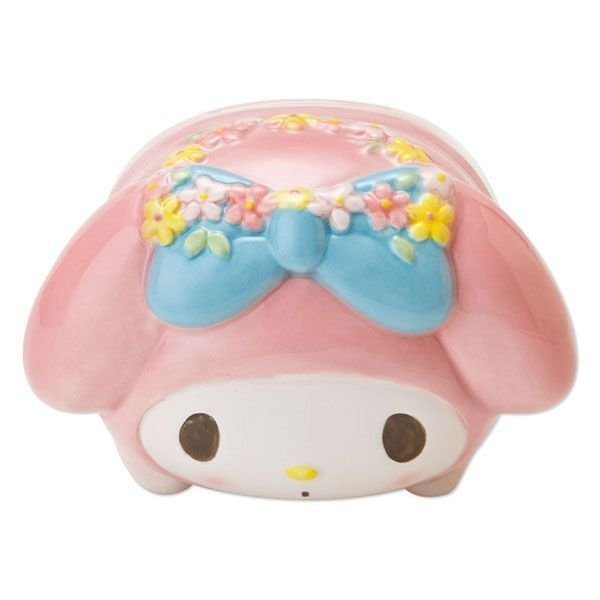 My Melody pottery Ceramic Pig-shaped Piggy Bank Sanrio Japan NEW Free shipping