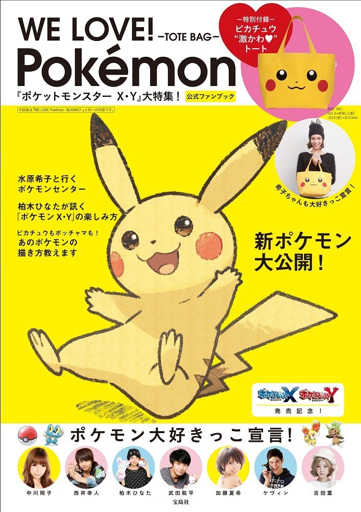 WE LOVE! Pokemon Pikachu TOTE BAG Pocket Monster XY