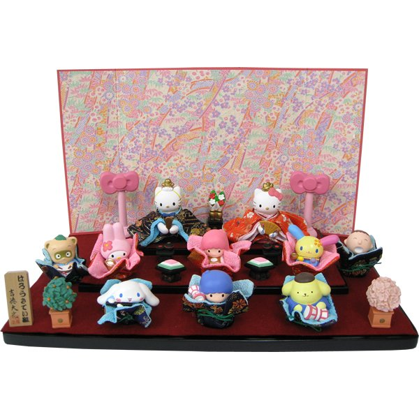 HINA Dolls of Sanrio Character & Kitty Kikirara My MelodyJapanLimited Plush F/S