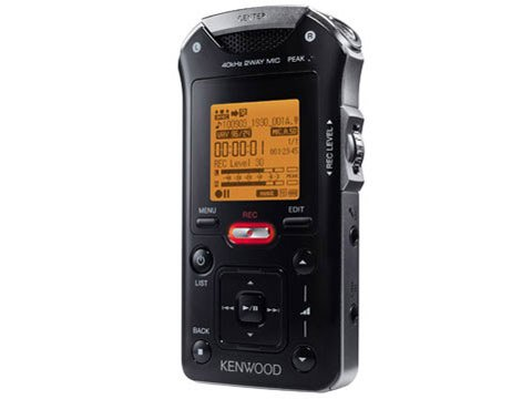 Kenwood Digital Audio recorder linear PCM MGR-E8-B Black IC from Japan NEWEMS