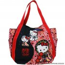 HELLO KITTY × DEARISIMO Toto/Shoulder Bag Cute Japan Kimono Black and Red color