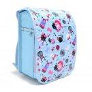 New Japanese Backpack Randoseru Cover Light Blue Argyle & Priness Kitty N4126000