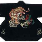 HAPPI Japanese Festival Coat Tiger vs Dragon Black Room wear Kimono JAPAN NewF/S