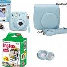 Instax Mini 8 Blue Fujifilm Instant Camera + 20 Film+ Case + Lens SETJapanF/SEMS