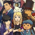 New Professor Capcom Official Book Layton VS Ace Attorney Setting Art Book Japan