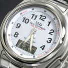 New Citizen Q & Q MCS1-301 Solar mate Digital-Analog Watch Water Resistant Japan