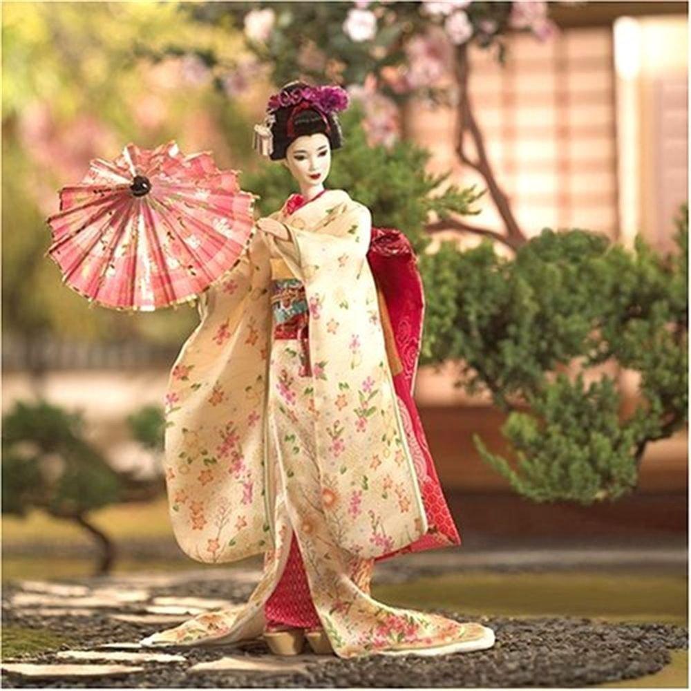 "Mattel Maiko Kimono Barbie Figure Doll 1/6 Scale,12"" Gold Label from Japan NEWFS"