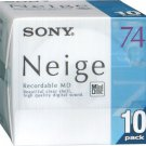 New Sony MD (mini disc) 74 minutes Neige Series 10 sheets pack 10MDW74NED Japan
