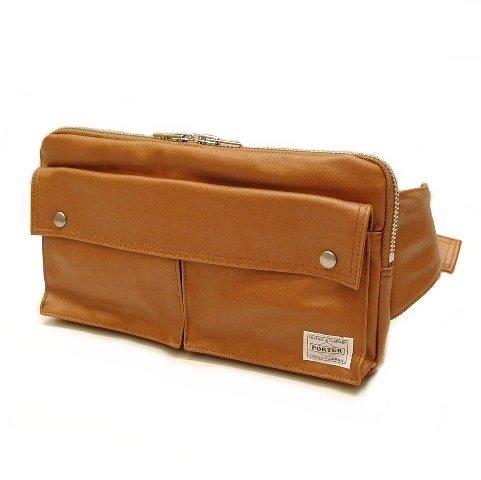 Yoshida Bag PORTER FREE STYLE WAIST BAG 707-07147 Camel New
