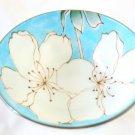 SAKURA Maiko Cherry blossom rice bowl Mino Porcelain Bowl Chawan Blue Japan NEW