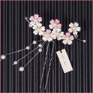 JAPAN SAKURA Kanzashi Cherry Blossom Hairpin Kyoto Maiko Kimono Dress NEW F/S