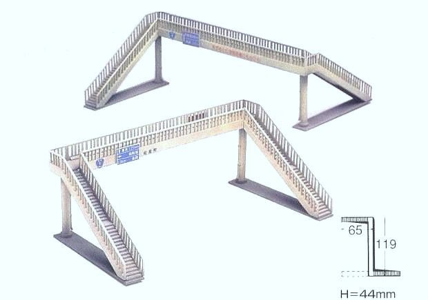 Greenmax No.2156 Pedestrian Bridge Set (1/150 N scale)