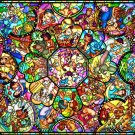 New Tenyo Jigsaw Puzzle Disney All Star Stained Glass 2000 pieces from Japan