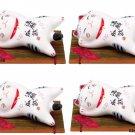 Beckoning Cat,Good luck Cat Chopstick Rest Set Manekineko Japan NEWKyoto Gift FS