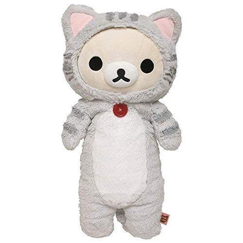 San-X Korilakkuma Kuta Kuta Dakigurumi Plush Toys MP-87801 Rilakkuma Nonbiri Cat