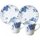 Gift! Hello Kitty Porcelain Blue Rose Pair Mug & cake dish set NEW Japan F/S