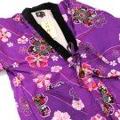 Hanten Short Coat of kimono Pattern Room Wear Happi M, L JAPAN F/SNEW