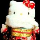 "Furisode Maiko Kimono Hello Kitty 17.3""stuffed Plush Doll,Geisha Very Rare! F/S"