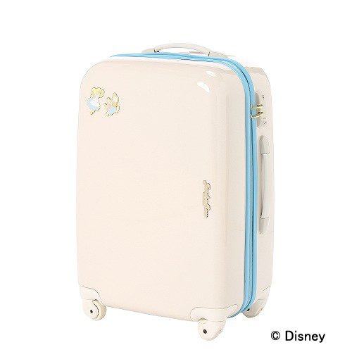 DISNEY Alice Travel Luggage Carry On Bag Suitcase White from Japan