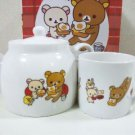 Rilakkuma tea pot and cup set Japan limited! Pottery Kyuusu NEW F/S
