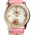 Disney Frozen watch Ladies Kids limited Swarovski Heart Charm Pinkgold×Pink F/S