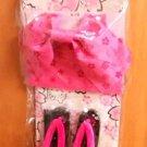 Rare! Hello Kitty SAKURA Cherry Blossoms Yukata set Kimono Dress Roomwear Japan