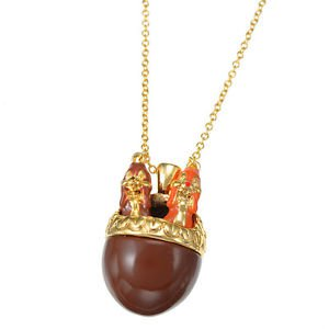 Tokyo Disney Store Chip & Dale necklace FUN! From JAPAN