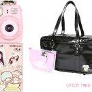 Little Twin Stars Instax Mini 8 Camera +10 Film + Bag SET Kikilala Fujifilm Pink
