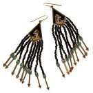 NEW Disney Couture Pocahontas Collection Nine Arrows Pierced Earring Black,Red