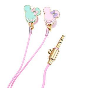 Stereo earphone macaroon Minnie for electronics disney mascot cute splendor
