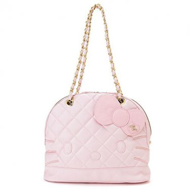 Hello Kitty face round Tote Bag Cute Pink Sanrio from Japan New