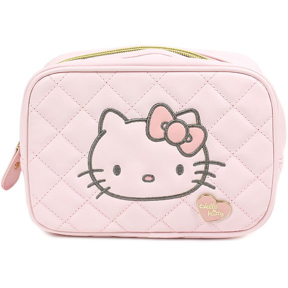 Hello Kitty cosmetic bag cute pink Sanrio from Japan NEW