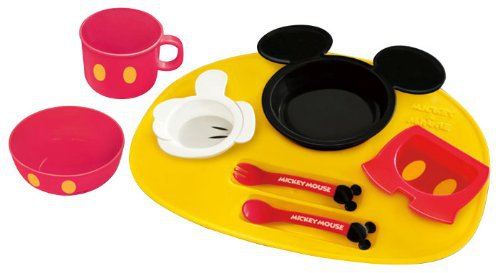 New Disney Mickey Mouse icon Baby Tableware Dishes set from Japan