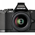Olympus OM-D E-M5 Digital Camera 16.1 MP Kit ED EZ 12-50mm Lens Japan Black F/S