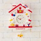 Hello Kitty Decorative pendulum Wall clock Glockenspiel Sanrio JAPAN limited F/S