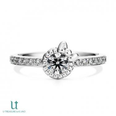 Hello Kitty Diamond Ribbon motif Engagement Ring Pt900 JAPAN NEW F/S SANRIO Gift