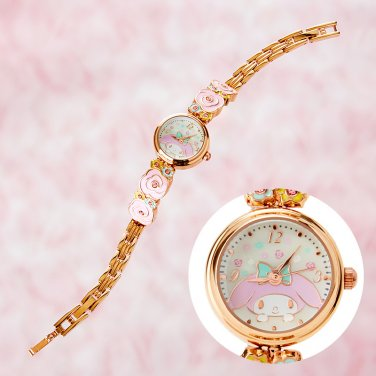 My Melody motif belt bracelet watch Pink Gold Sanrio From Japan Kawaii NEW F/S