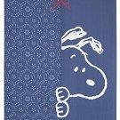 SNOOPY PEANUTS door curtain NOREN Doorway room decor blue Made in Japan F/S