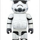 Medicom 400% Bearbrick 2015 STAR WARS STORMTROOPER CHROME Ver BE@RBRICK F/S NEW