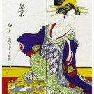 """NEW Japanese Noren Ukiyoe WAKAMURASAKI Tapestry Doorway 85 x 150cm 33.4""""x 59""""BIG"""