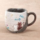 KutaniYaki Hidamari/Cats in Sunny spot Ceramic Mug Cup Made in Japan K4-868
