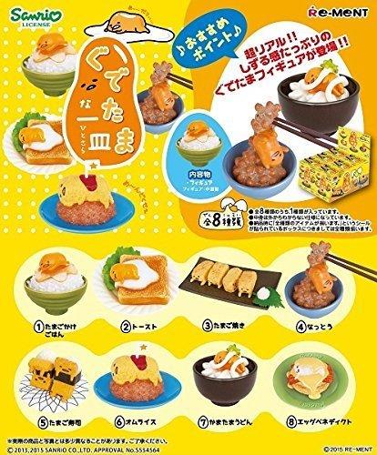 Re-ment Miniatures Figures Gudetama Egg Dishes Full 8 SET SANRIO Japan