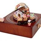 My Melody wooden music box (train) SANRIO from Japan Kawaii Free Shipping New