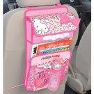 Hello Kitty Drive pocket Car Napkin Tissue Magazine Book Bag Pink Car Accessory