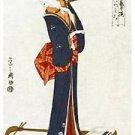 """Free shippining Japanese Doorway Noren Ukiyoe SHAMISEN Curtain Tapestry 33""""x 59"""""""