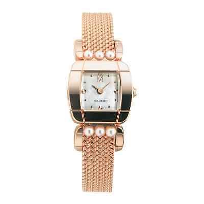 MIKIMOTO Pearl Pink gold color Wrist watch Analog for Women Japan FS NEW Gift