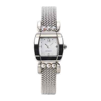MIKIMOTO Akoya Silver color Wrist watch Analog for Women from Japan FS NEW Gift